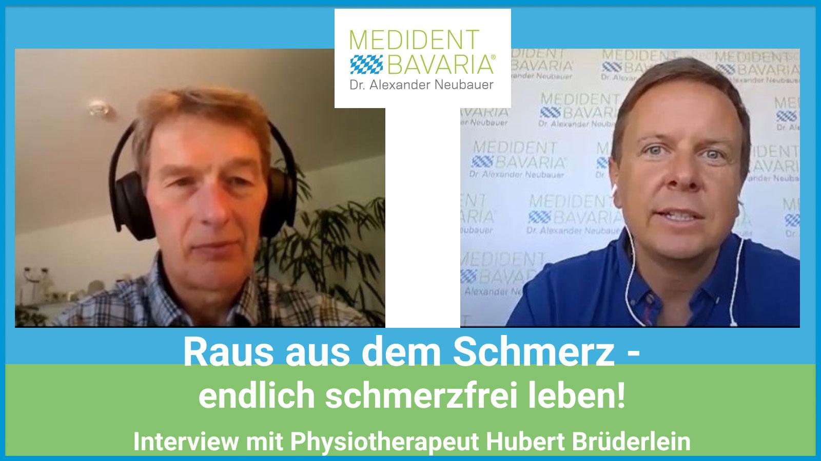 Raus aus dem Schmerz und endlich schmerzfrei leben!  Interview mit Physiotherapeut Hubert Brüderlein